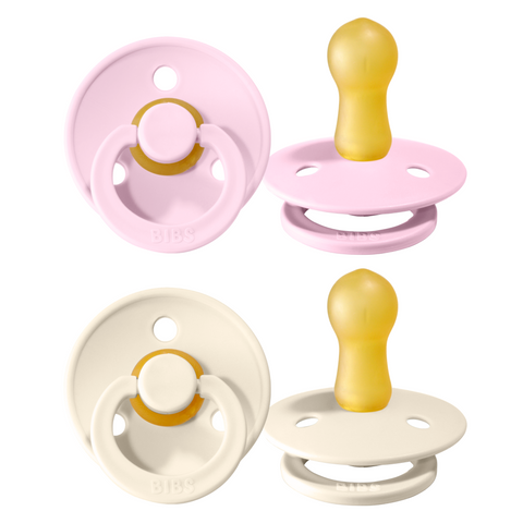 Bibs pacifier 0-6 months 2-pack baby pink + ivory