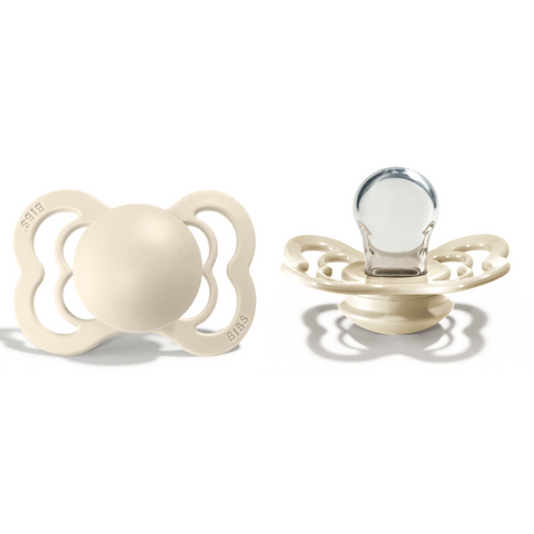 Bibs supreme pacifier silicone 0-6 M ivory