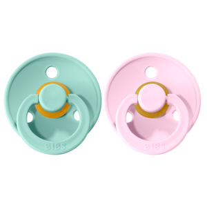 Bibs pacifier 0-6 M 2-pack mint + baby pink