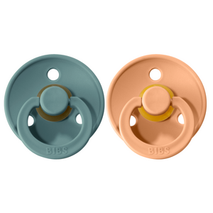 Bibs pacifier 0-6 M 2-pack peach + island sea