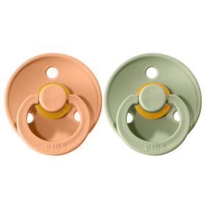Bibs pacifier 0-6 M 2-pack peach + sage