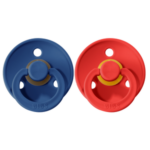 Bibs pacifier 0-6 M 2-pack midnight + strawberry