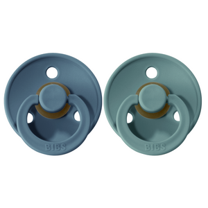 Bibs pacifier 6-18 M 2-pack petrol + island sea