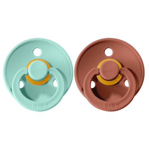 Bibs pacifier 0-6 M 2-pack mint + woodchuck