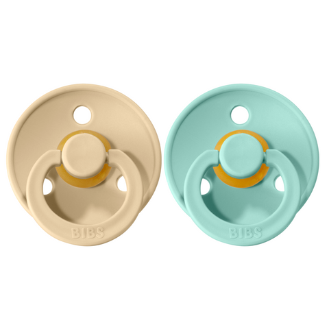 Bibs pacifier 0-6 M 2-pack mint + vanilla