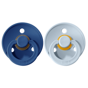 Bibs pacifier 0-6 M 2-pack midnight + baby blue