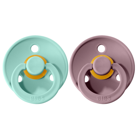 Bibs pacifier 0-6 M 2-pack mint + heather