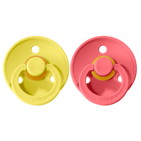 Bibs pacifier 0-6 M 2-pack pineapple + coral
