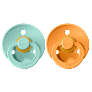 Bibs pacifier +18M 2-pack mint + apricot