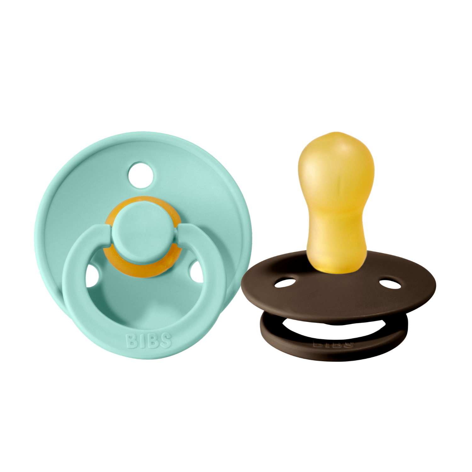 Bibs pacifier +18M 2-pack mint + chocolate