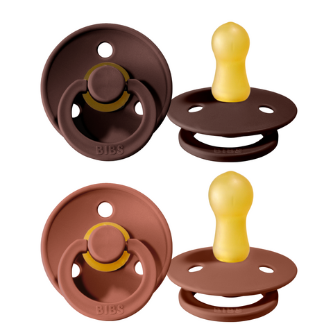Bibs pacifier 0-6 months 2-pack chestnut + woodchuck