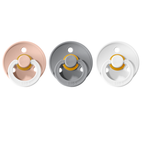 Bibs pacifier 0-6M 3-pack blush night + cloud + white