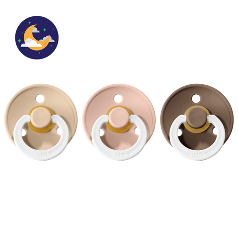 3-pack 0-6M pacifiers blush + vanilla + oak / glow in the dark