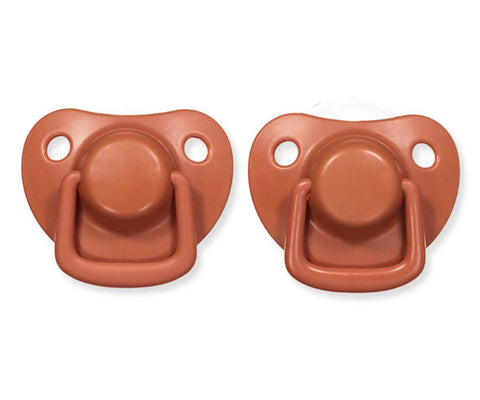 Pacifiers 2-pack rust 0-6M Filibabba