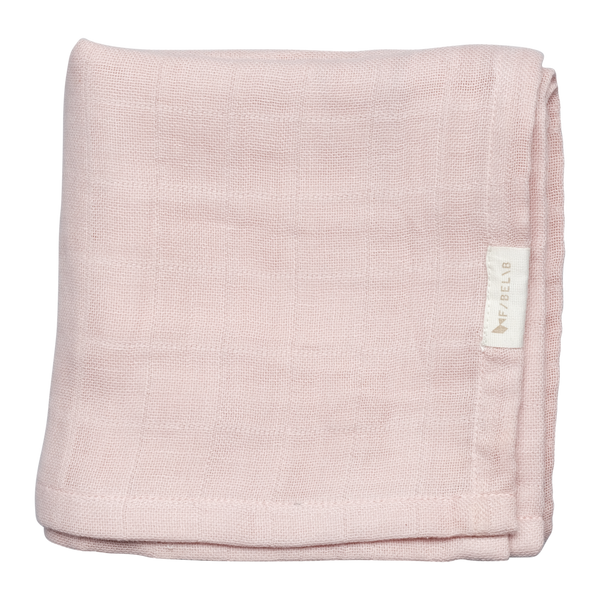 2-pack - muslin clay/mauve Fabelab