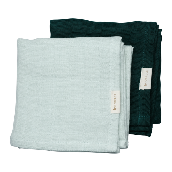 2 Pack - muslin beachgrass/evergreen Fabelab