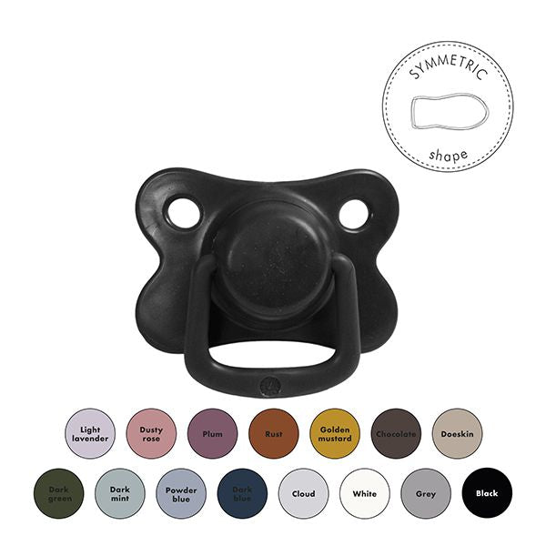 Pacifiers 2-pack black +6M Filibabba