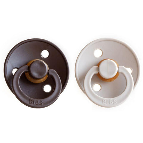 Bibs pacifier +18M 2-pack chocolate + sand