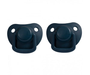 Pacifiers 2-pack dark blue 0-6M Filibabba