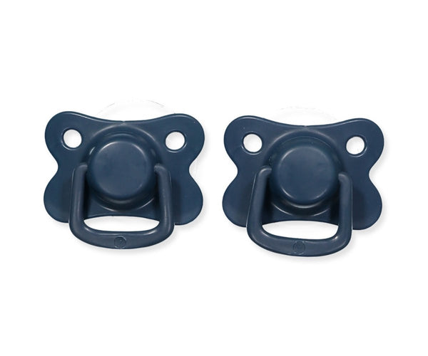 Pacifiers 2-pack dark blue +6M Filibabba