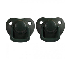 Pacifiers 2-pack dark green 0-6M Filibabba