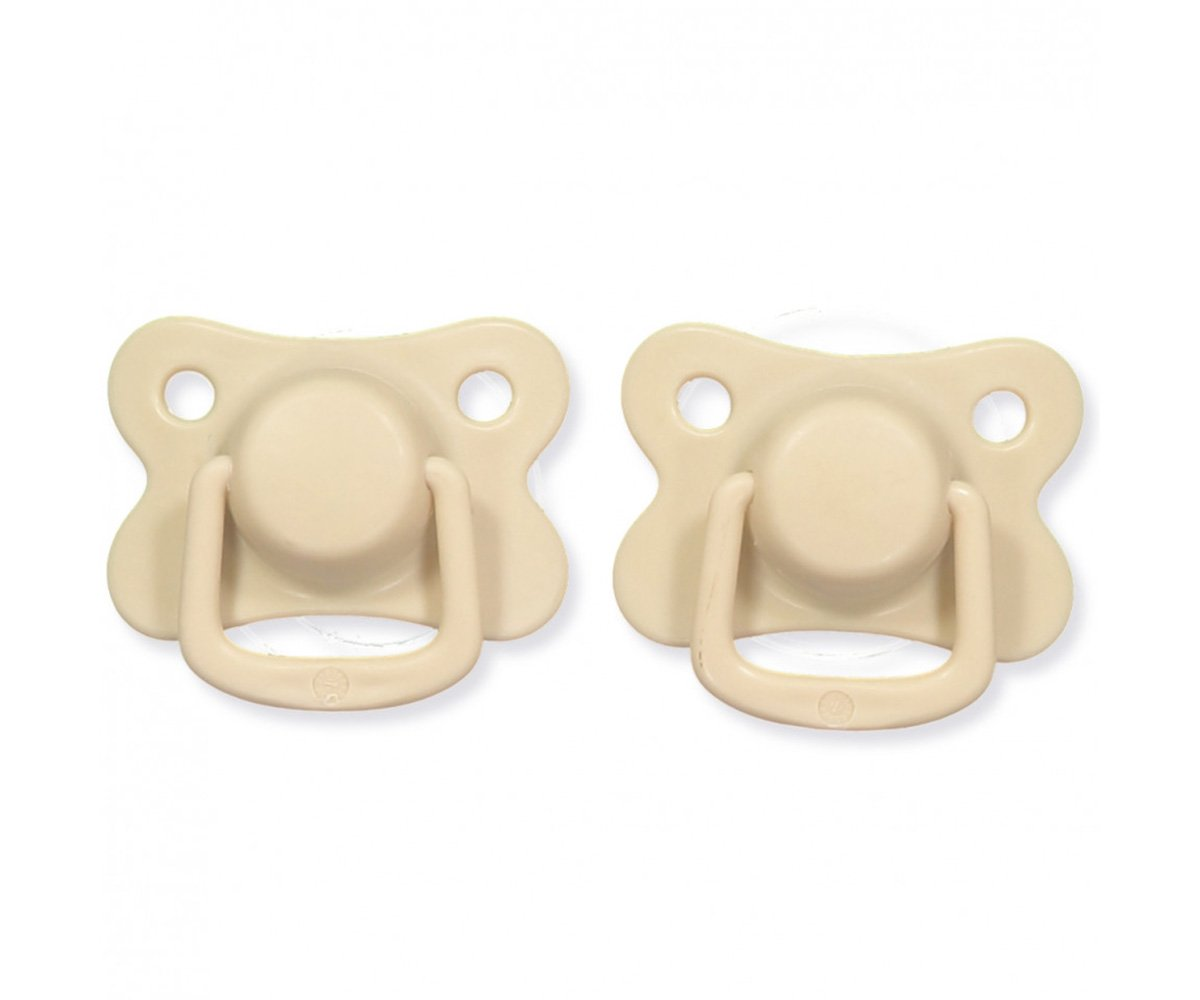 Pacifiers 2-pack doeskin +6M Filibabba