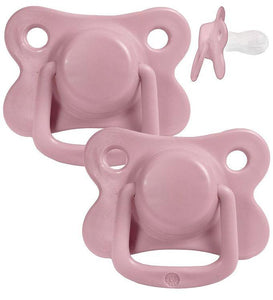 Pacifiers 2-pack dusty rose +6M Filibabba