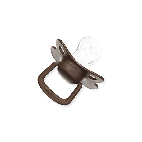 Pacifiers 2-pack chocolate +6M Filibabba