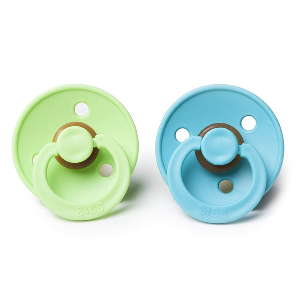 Bibs pacifier 6-18 months 2-pack turquoise + lime