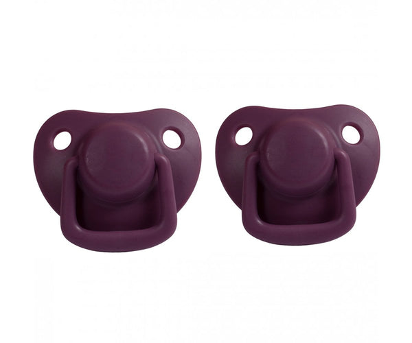 Pacifiers 2-pack plum 0-6M Filibabba