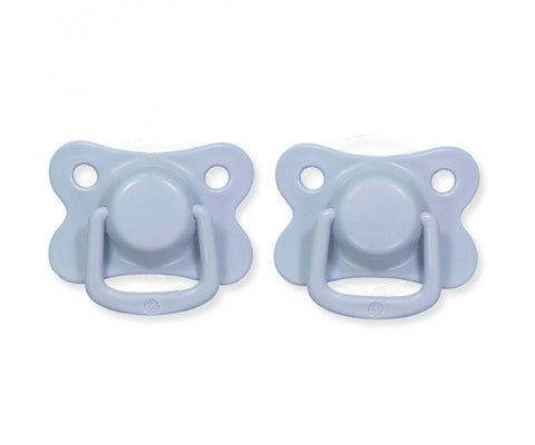 Pacifiers 2-pack powder blue +6M Filibabba