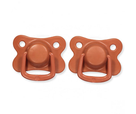 Pacifiers 2-pack rust +6M Filibabba