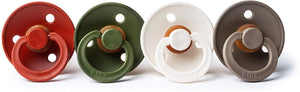 Bibs pacifier 0-6 M 4-pack rust + hunter green + white + dark oak