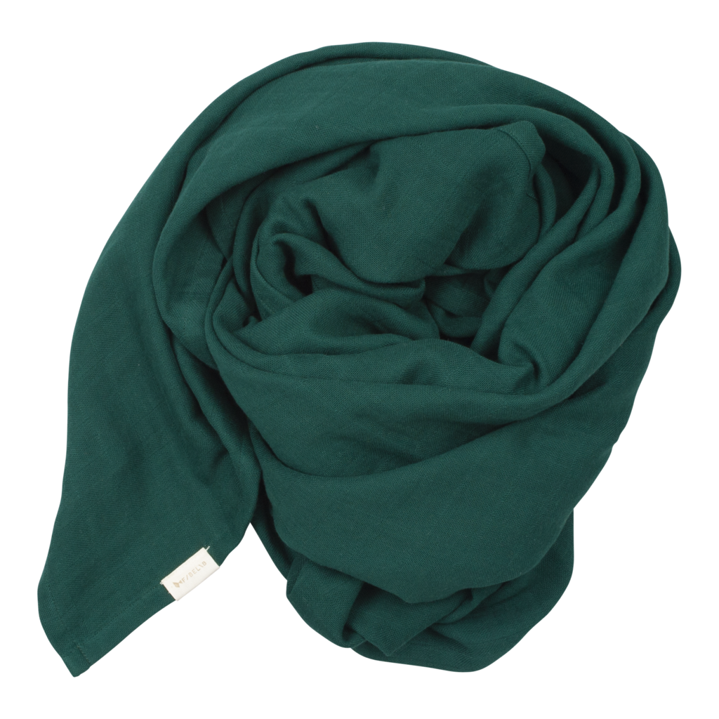 Muslin swaddle evergreen Fabelab