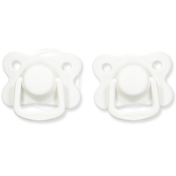 Pacifiers 2-pack white +6M Filibabba