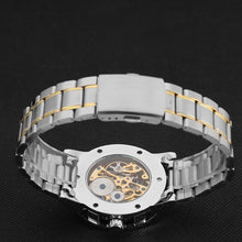 Load image into Gallery viewer, Automatic self-winding Stainless Steel Men's Mechanical Watch, Skeleton Design Shows the Clock Works