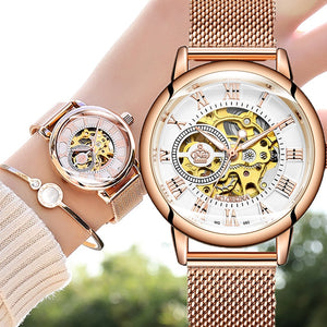 Women's Automatic Mechanical skeleton Watch for the woman who appreciates fine craftsmanship