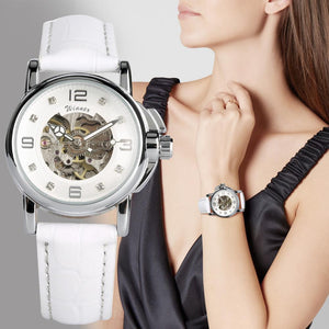 Women's Watch Automatic Mechanical Watch Skeleton Wristwatch Automatic-self-winding