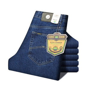 Men Business Classic Jeans, Thin Straight Denim