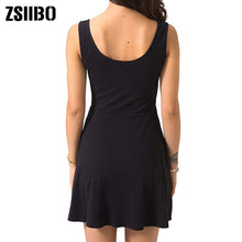 Load image into Gallery viewer, Sexy Black Summer Bandage Bodycon Mini Tank Dress High Waist Slim Solid Fit Flare Skater