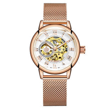 Load image into Gallery viewer, Women's Automatic Mechanical skeleton Watch for the woman who appreciates fine craftsmanship