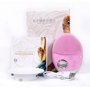 Phototherapy Silicone Facial Cleaner Skin Rejuvenation Photon Therapy - Online Fashion Store -Shop Alluring