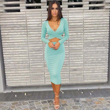 Load image into Gallery viewer, Sexy Long Sleeve Cut-Out Bandage Dress-Dresses-Shop Alluring