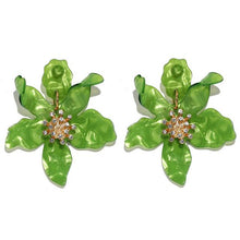 Load image into Gallery viewer, Big Stud Earrings Bohemian Acrylic Flower - Online Fashion Store -Shop Alluring