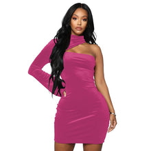 Load image into Gallery viewer, Velvet Dress Halter Sheath Bodycon Mini - Online Fashion Store -Shop Alluring
