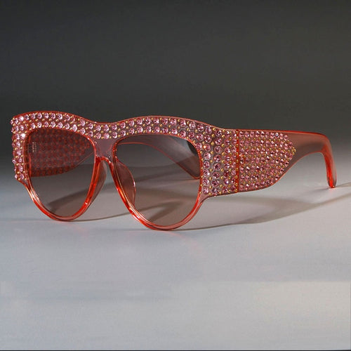 Luxury Square Sunglasses Rhinestone Frame Bling - Online Fashion Store -Shop Alluring