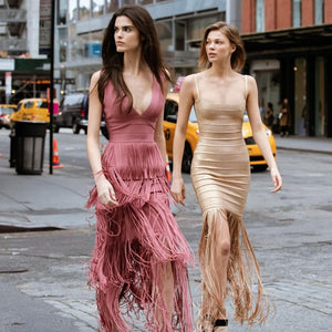 Maxi Tassels Glitter Dress - Online Fashion Store -Shop Alluring