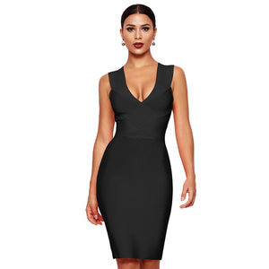 Sophisticated Sleek Body Fit Bandage Dress - Online Fashion Store -Shop Alluring