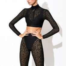 Load image into Gallery viewer, Lace Tracksuit Set Women Sexy Two Piece Set-Sportswear-Shop Alluring