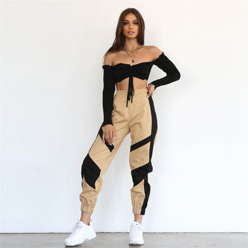 High Waist Cargo Pants Sweatpants - Online Fashion Store -Shop Alluring